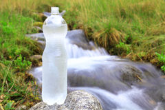 Plastic bottle with clean water Stock Photos