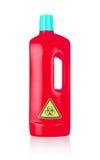 Plastic bottle cleaning-detergent, biohazard Stock Photos