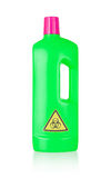 Plastic bottle cleaning-detergent, biohazard Royalty Free Stock Photography