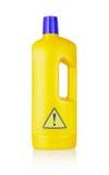 Plastic bottle cleaning-detergent, danger Stock Photography