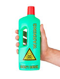 Plastic bottle cleaning-detergent, poisonous Royalty Free Stock Images