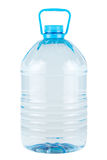 Plastic bottle of clear drinking water. Plastic bottle of clear cold drinking water isolated on white Stock Photo