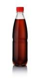 Plastic bottle of cola. Isolated on white royalty free stock image