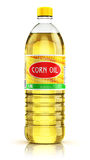 Plastic bottle with corn oil Royalty Free Stock Photo