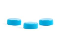 Plastic bottle cups Stock Images