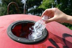 Plastic bottle disposal Stock Image
