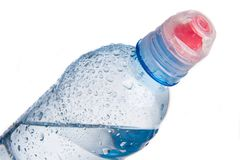 Plastic bottle of drinking water isolated Royalty Free Stock Photos