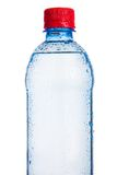 Plastic bottle of drinking water isolated Royalty Free Stock Photo