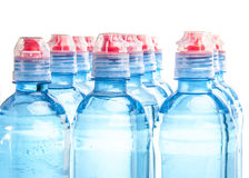 Plastic bottle of drinking water isolated Royalty Free Stock Image