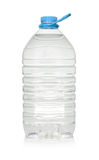 Plastic bottle of drinking water isolated on white Royalty Free Stock Photos