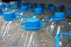 Plastic bottle 5 liters. Plastic bottle with drinking water 5 liters Stock Images