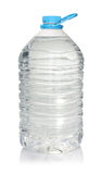 Plastic bottle of drinking water  on white Royalty Free Stock Photography
