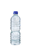Plastic bottle of drinking water on white background Stock Photo