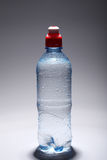 Plastic bottle of fresh and cold water stock photos