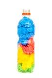 Plastic bottle full of plastic bags Royalty Free Stock Photo