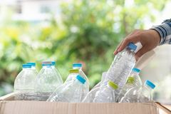 Plastic bottle garbage for recycling concept reuse.  Royalty Free Stock Images