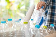 Plastic bottle garbage for recycling concept reuse.  Royalty Free Stock Photo