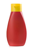 Plastic bottle of ketchup Stock Images