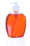 Plastic Bottle with liquid soap Stock Photography
