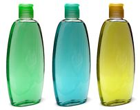 Plastic Bottle with liquid soap on a white Royalty Free Stock Photos