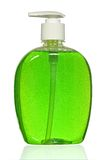 Plastic Bottle with liquid soap on white Stock Photography