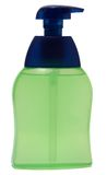 Plastic Bottle with liquid soap on white Stock Image