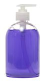 Plastic Bottle with liquid soap on white background. shampoo Stock Image
