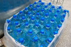 Plastic bottle 5 liters. Plastic bottle with drinking water 5 liters Royalty Free Stock Image