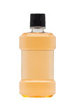 Plastic bottle of mint orange mouthwash Royalty Free Stock Photos