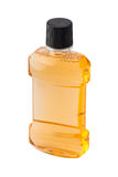 Plastic bottle of mint orange mouthwash Royalty Free Stock Photo