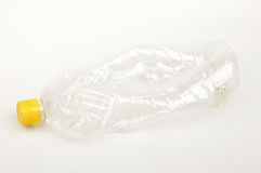 Plastic bottle from oil  on the bright background Stock Image