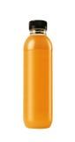 Plastic bottle of orange juice isolated Royalty Free Stock Images