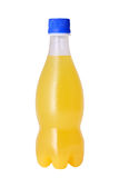 Plastic bottle of orange juice Royalty Free Stock Photo