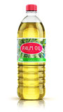 Plastic bottle with palm oil Stock Image