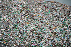 Plastic bottle pollution Royalty Free Stock Image