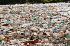 Plastic bottle pollution Stock Photography