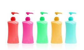 Plastic Bottle pump Of Gel, Liquid Soap, Lotion, Cream, Shampoo Royalty Free Stock Photos