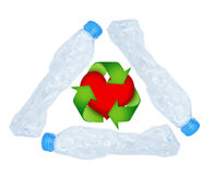 Plastic bottle recycling concept Stock Image