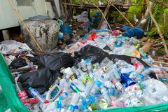 Plastic bottle recycling Royalty Free Stock Photo