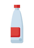 Plastic Bottle with Red Label Royalty Free Stock Images