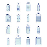 Plastic Bottle Set Royalty Free Stock Image