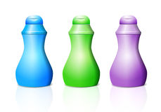 Plastic bottle for shampoo or cream Stock Image