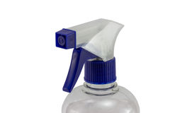 Plastic bottle spray nozzle Royalty Free Stock Photo