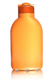 Plastic bottle for sun lotion Stock Photography