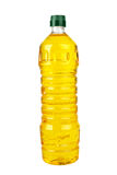 Plastic bottle with sunflower (corn or olive) oil Stock Images