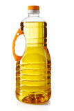 Plastic bottle with sunflower oil isolated Stock Photo
