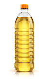 Plastic bottle of vegetable cooking oil Royalty Free Stock Photography