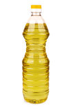 Plastic bottle of vegetable oil Stock Photography