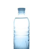 Plastic bottle with water. Isolated on the white background Stock Image