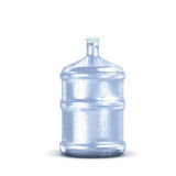 Plastic bottle with water drops. Recycling concept. Isolation on white. Plastic bottle with water drops. Recycling concept Stock Photos